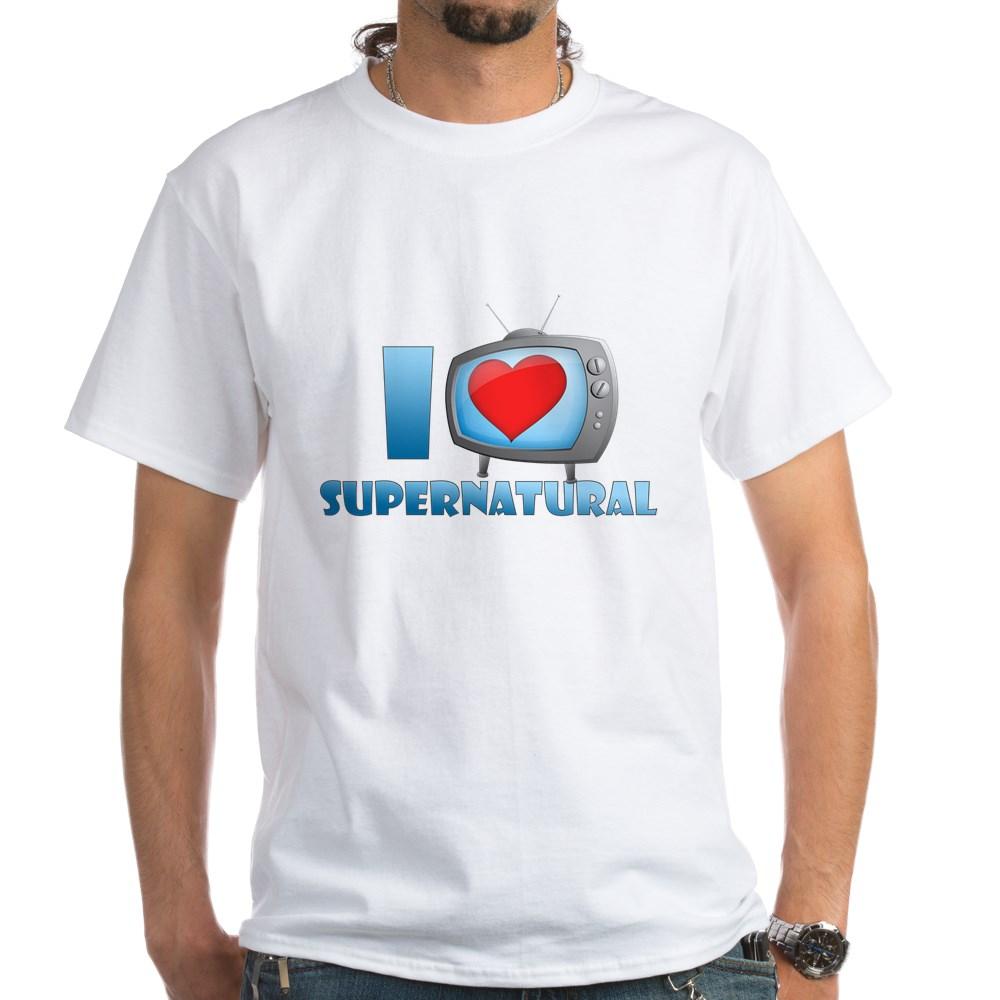 I Heart Supernatural White T-Shirt