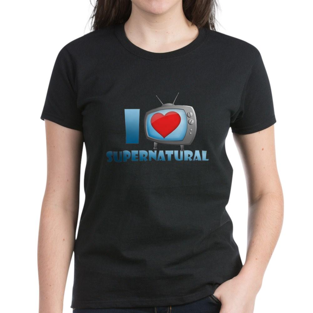 I Heart Supernatural Women's Dark T-Shirt