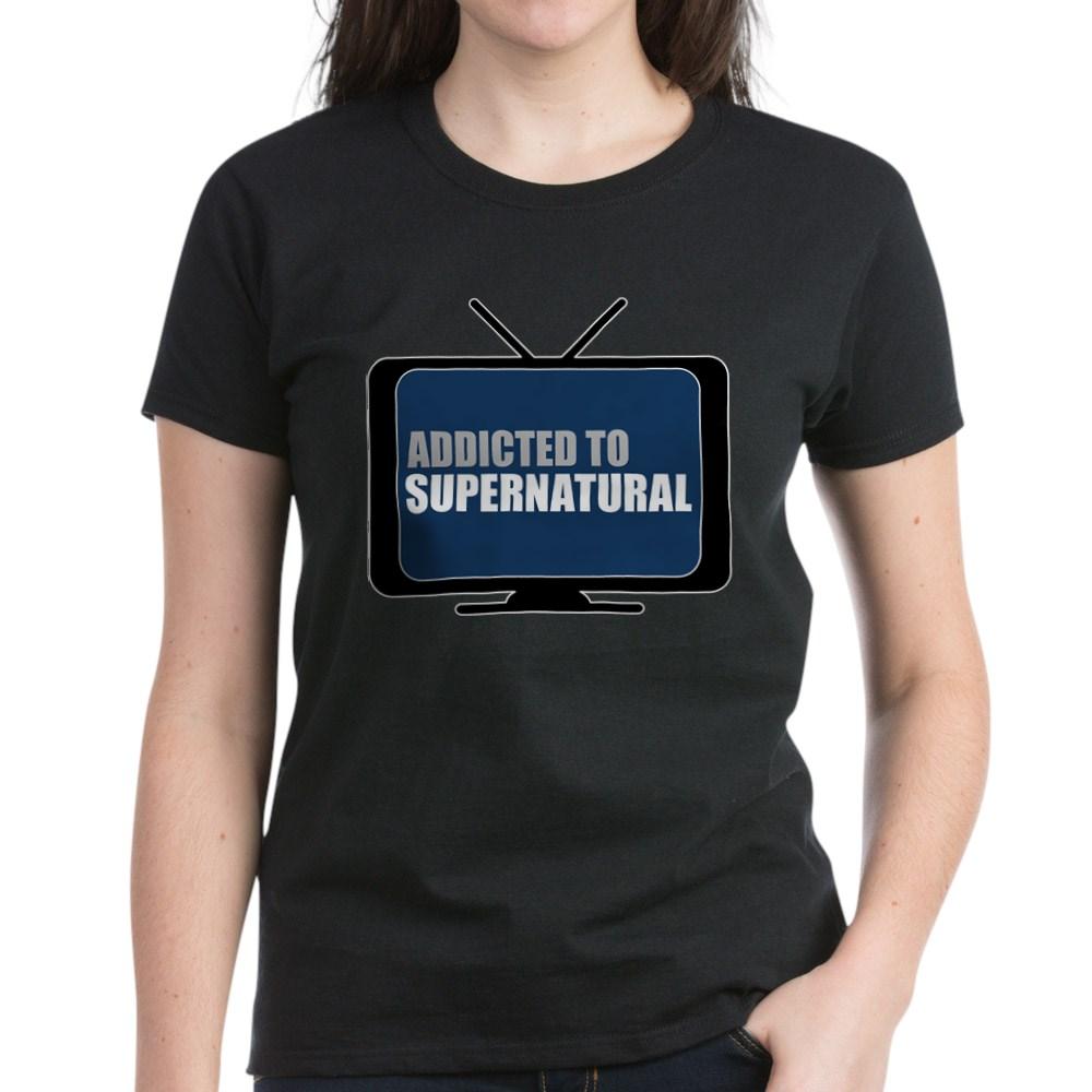 Addicted to Supernatural Women's Dark T-Shirt