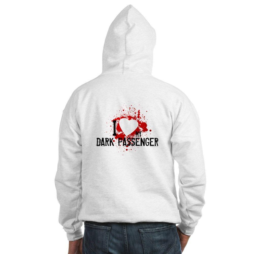 I Heart My Dark Passenger Hooded Sweatshirt