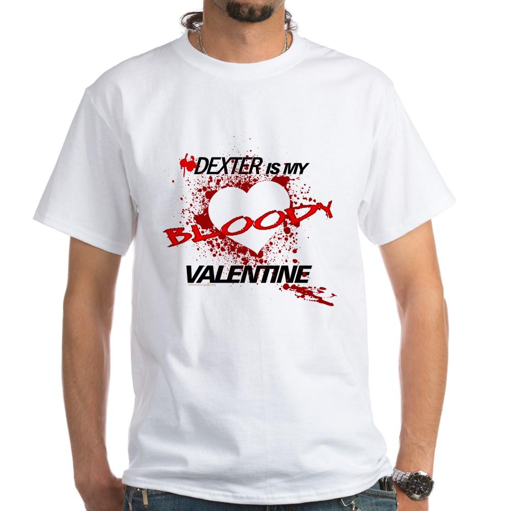 Dexter Is My Bloody Valentine White T-Shirt