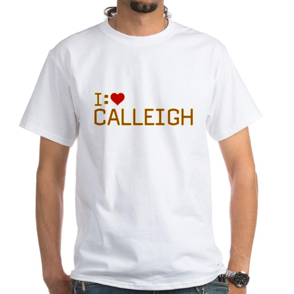 I Heart Calleigh White T-Shirt