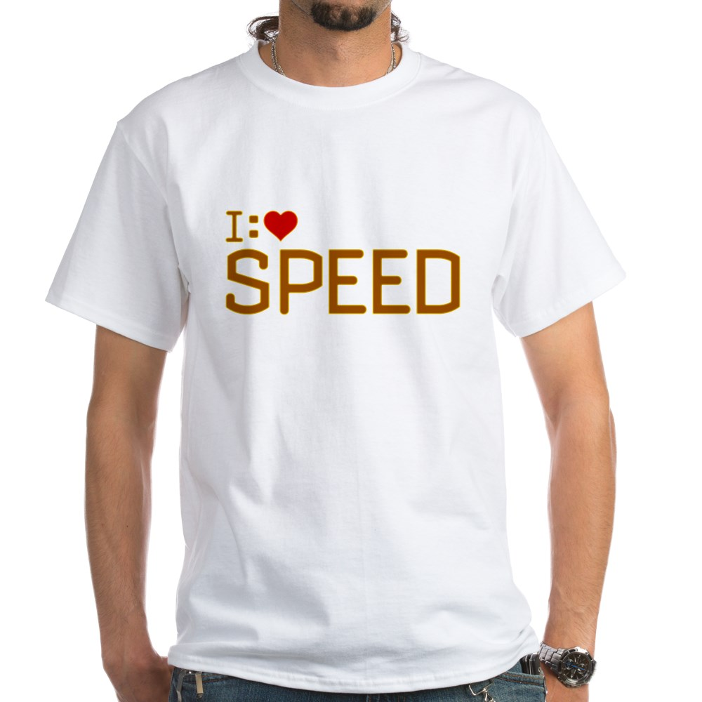 I Heart Speed White T-Shirt