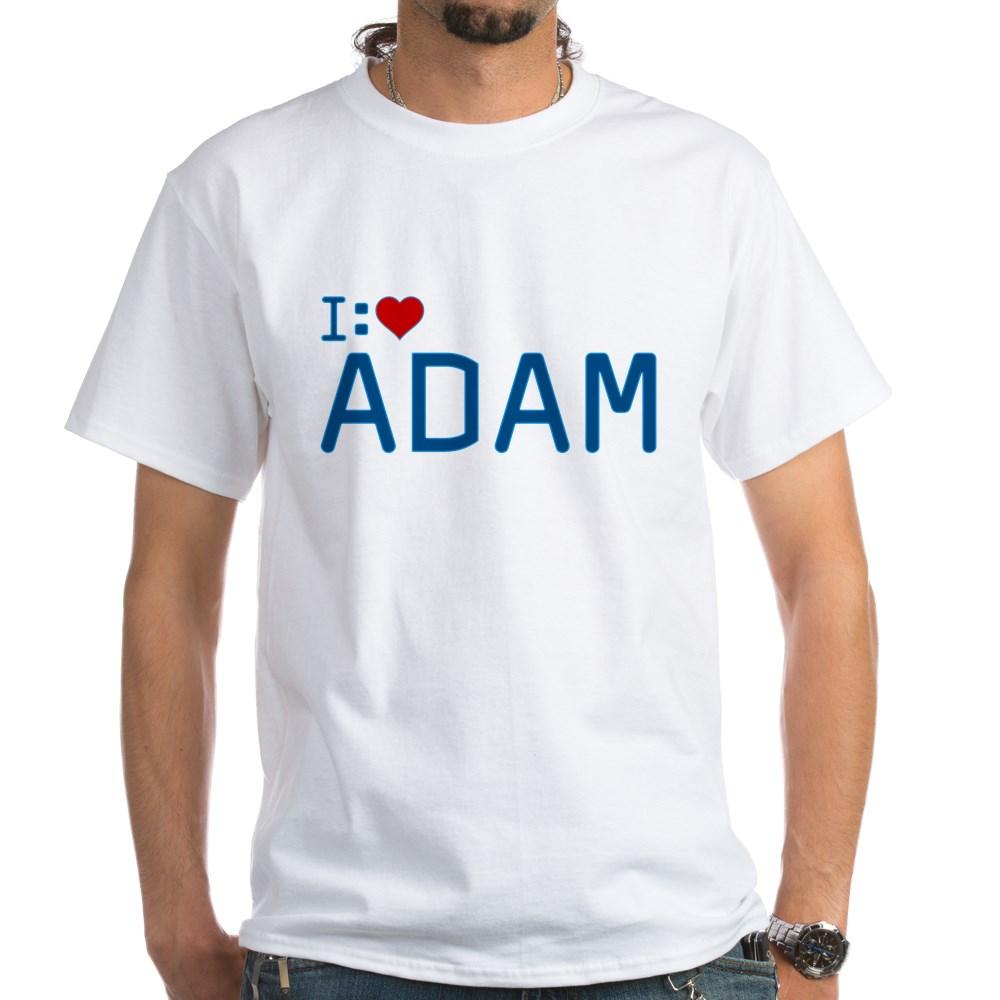 I Heart Adam White T-Shirt