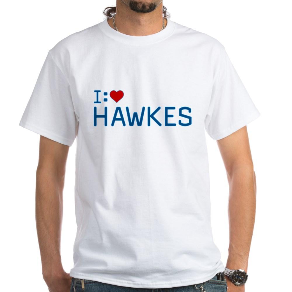 I Heart Hawkes White T-Shirt