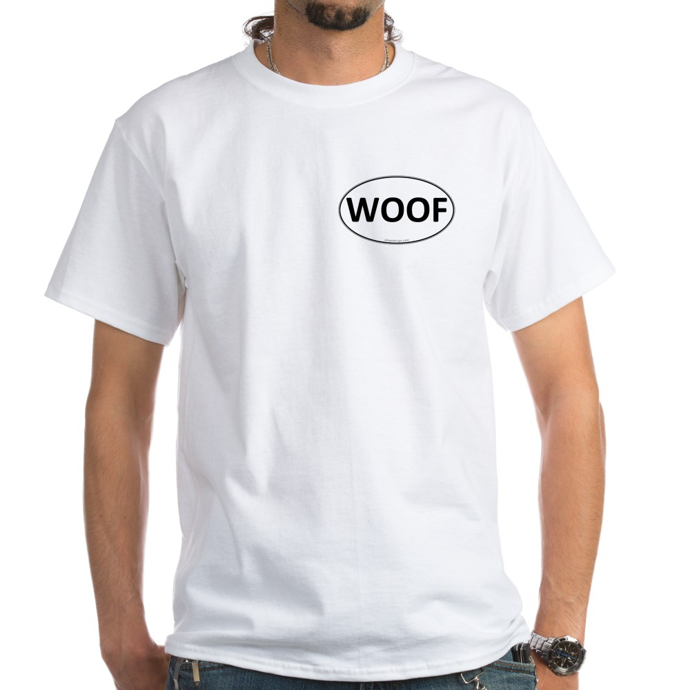 WOOF Euro Oval White T-Shirt