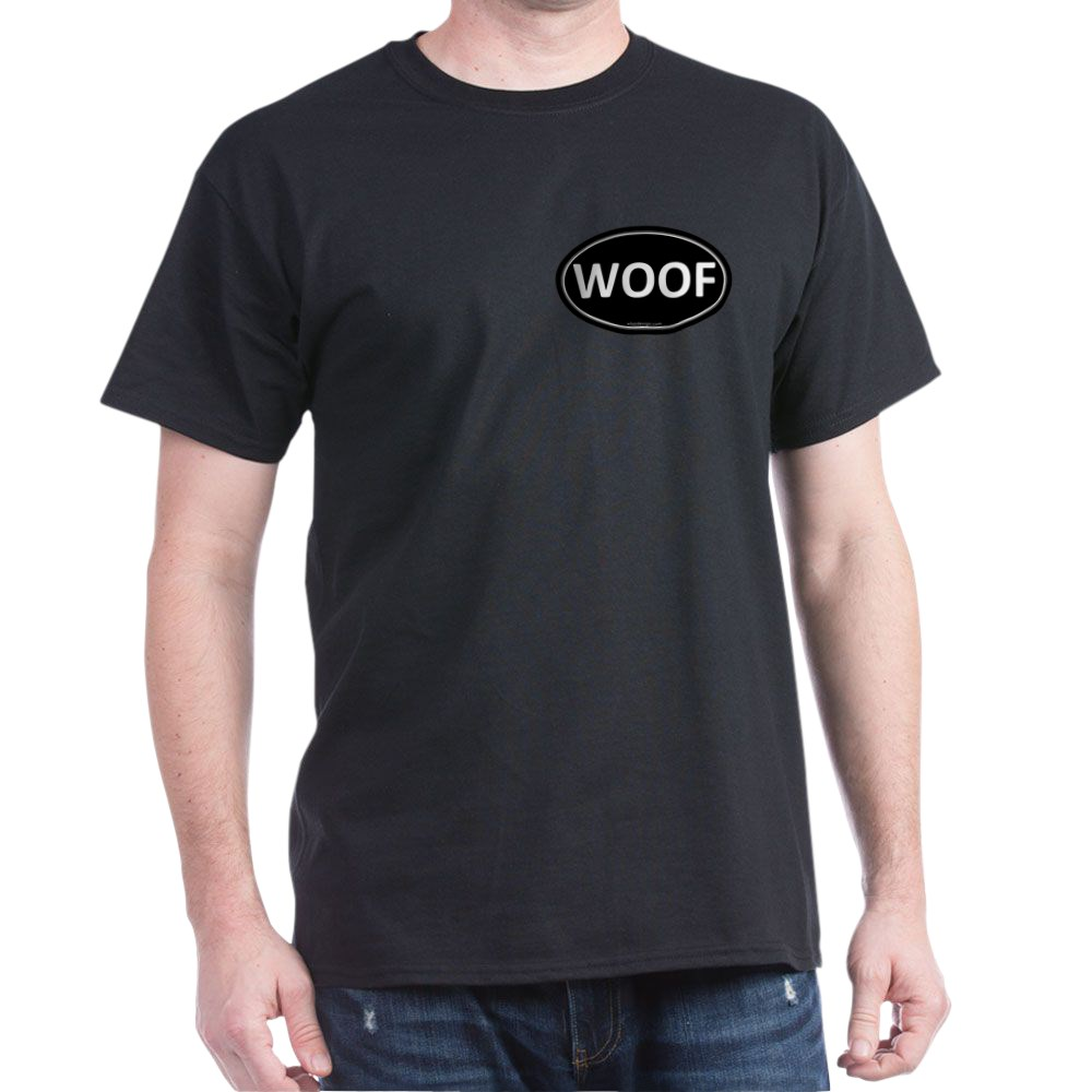 WOOF Black Euro Oval Dark T-Shirt