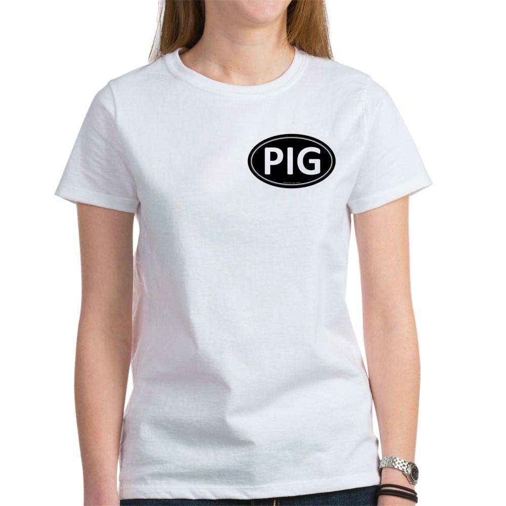 PIG Black Euro Oval Women's T-Shirt