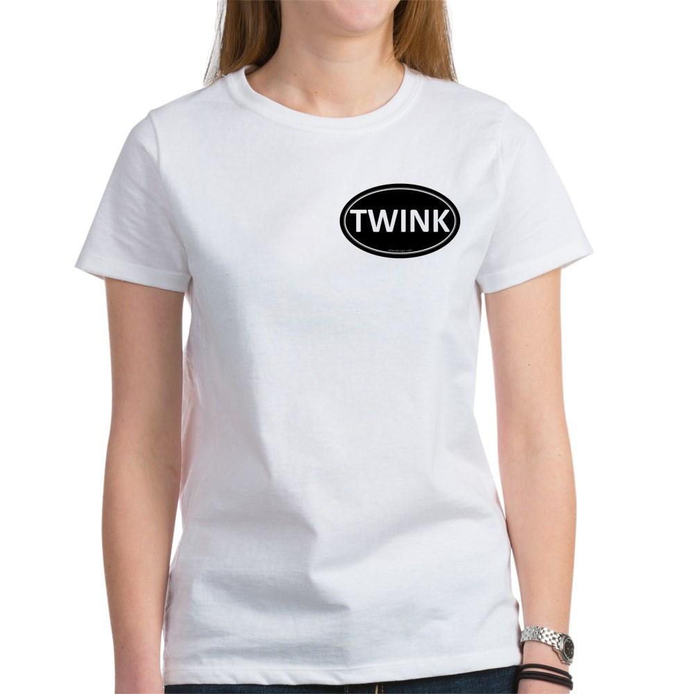 TWINK Black Euro Oval Women's T-Shirt