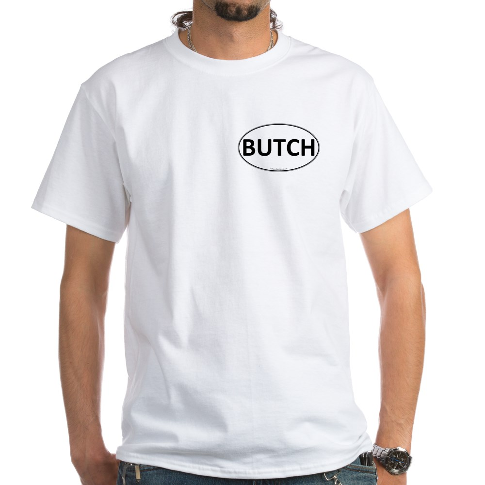 BUTCH Euro Oval White T-Shirt