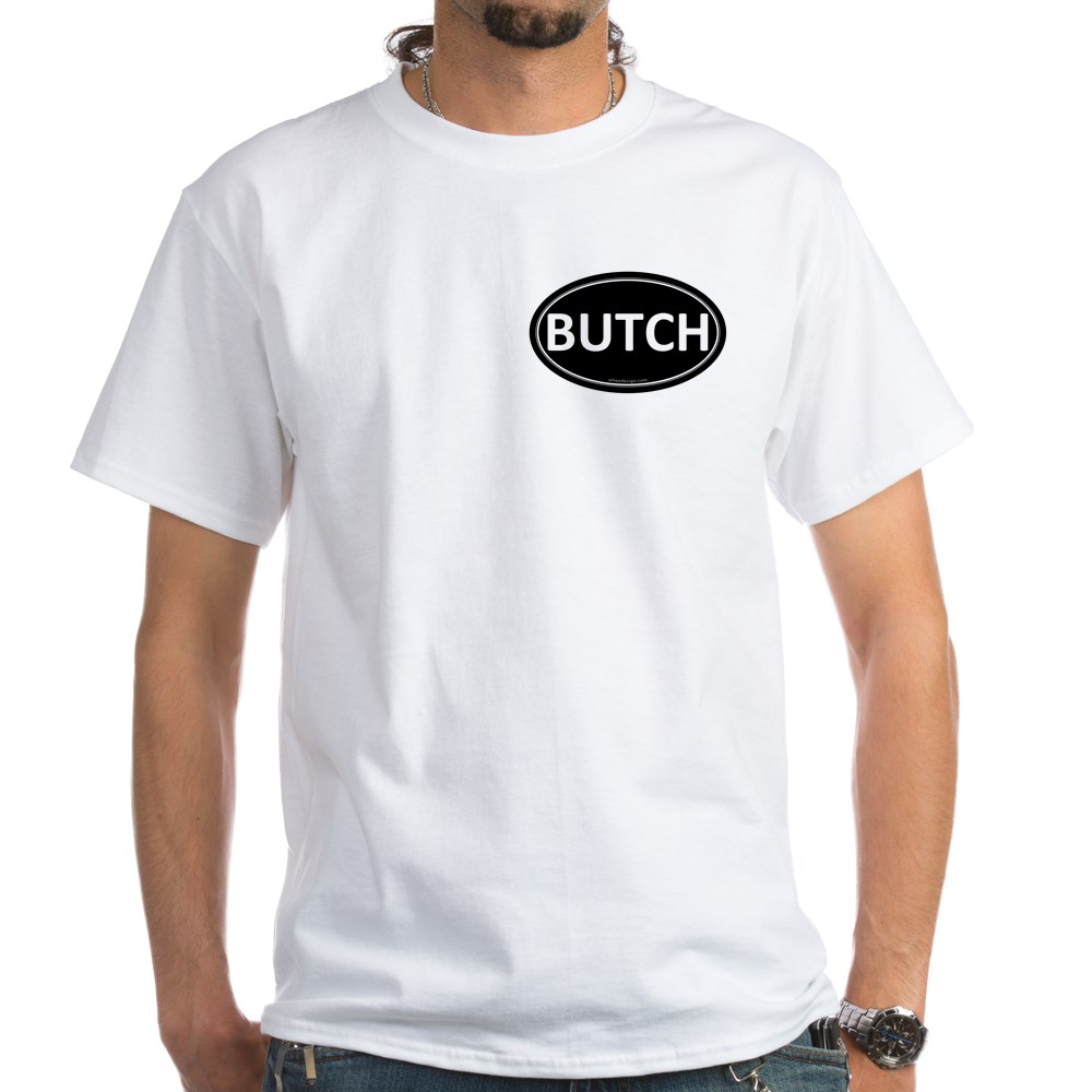 BUTCH Black Euro Oval White T-Shirt