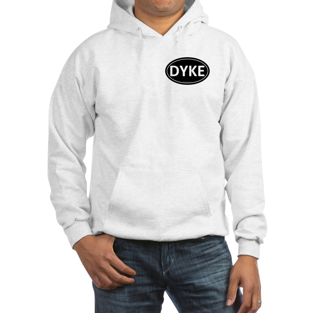 DYKE Black Euro Oval Hooded Sweatshirt