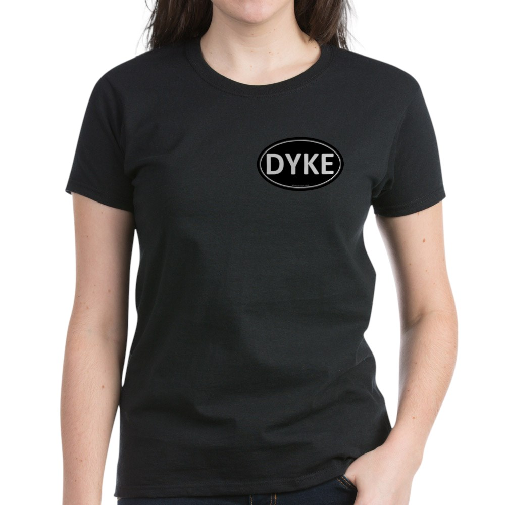 DYKE Black Euro Oval Women's Dark T-Shirt