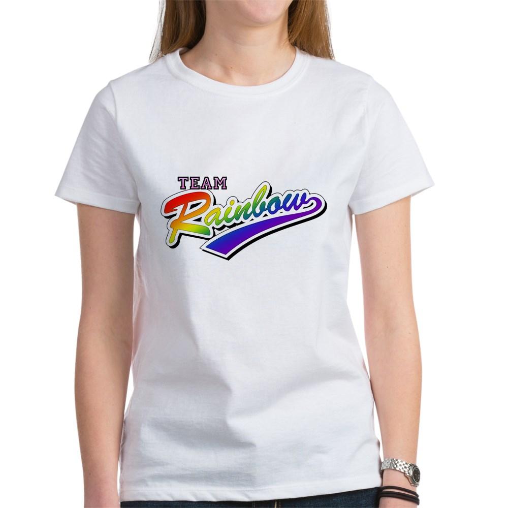 Team Rainbow LGBT Gay Pride Women's T-Shirt