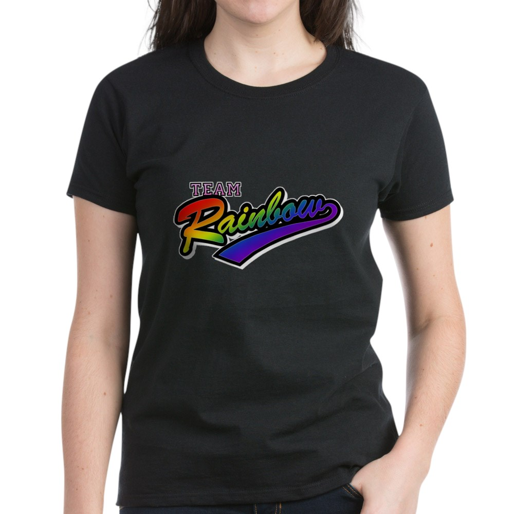 Team Rainbow LGBT Gay Pride Women's Dark T-Shirt