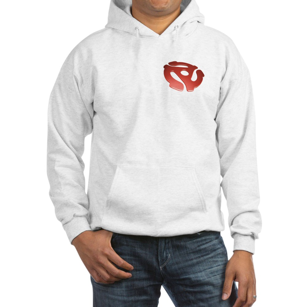 Red 3D 45 RPM Adapter Hooded Sweatshirt
