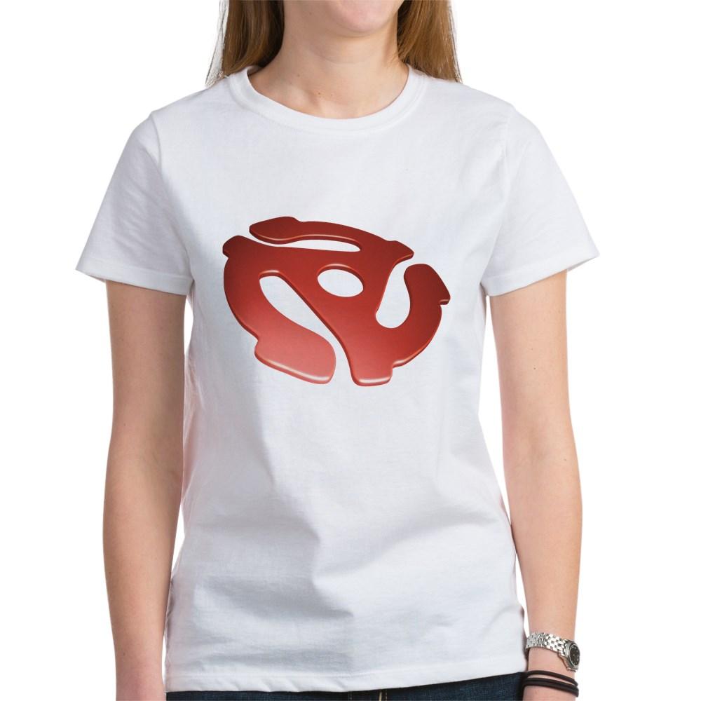 Red 3D 45 RPM Adapter Women's T-Shirt