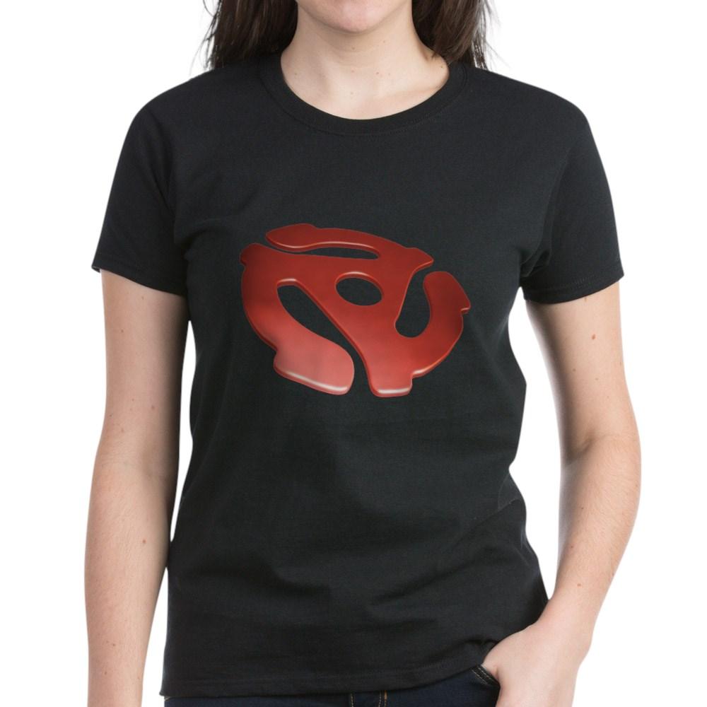 Red 3D 45 RPM Adapter Women's Dark T-Shirt
