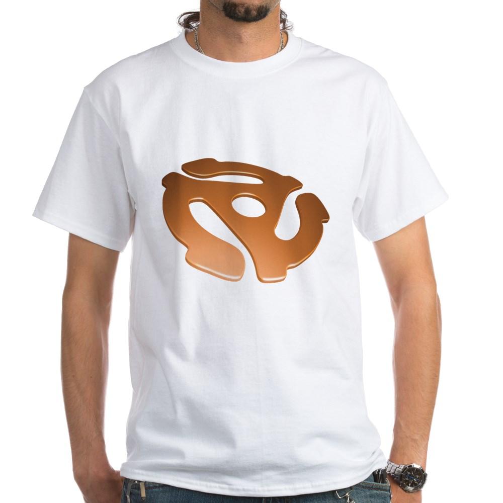 Orange 3D 45 RPM Adapter White T-Shirt