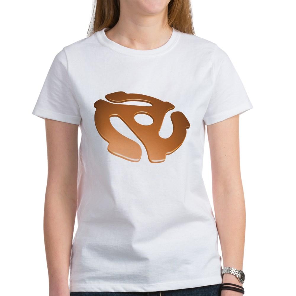 Orange 3D 45 RPM Adapter Women's T-Shirt