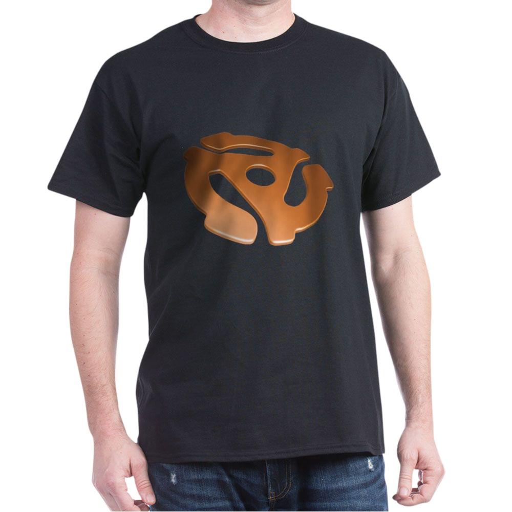 Orange 3D 45 RPM Adapter Dark T-Shirt