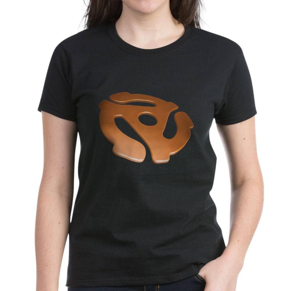 Orange 3D 45 RPM Adapter Women's Dark T-Shirt