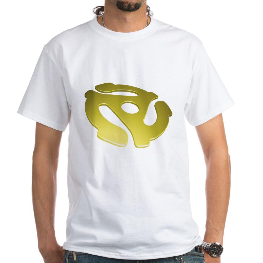 Gold 3D 45 RPM Adapter White T-Shirt