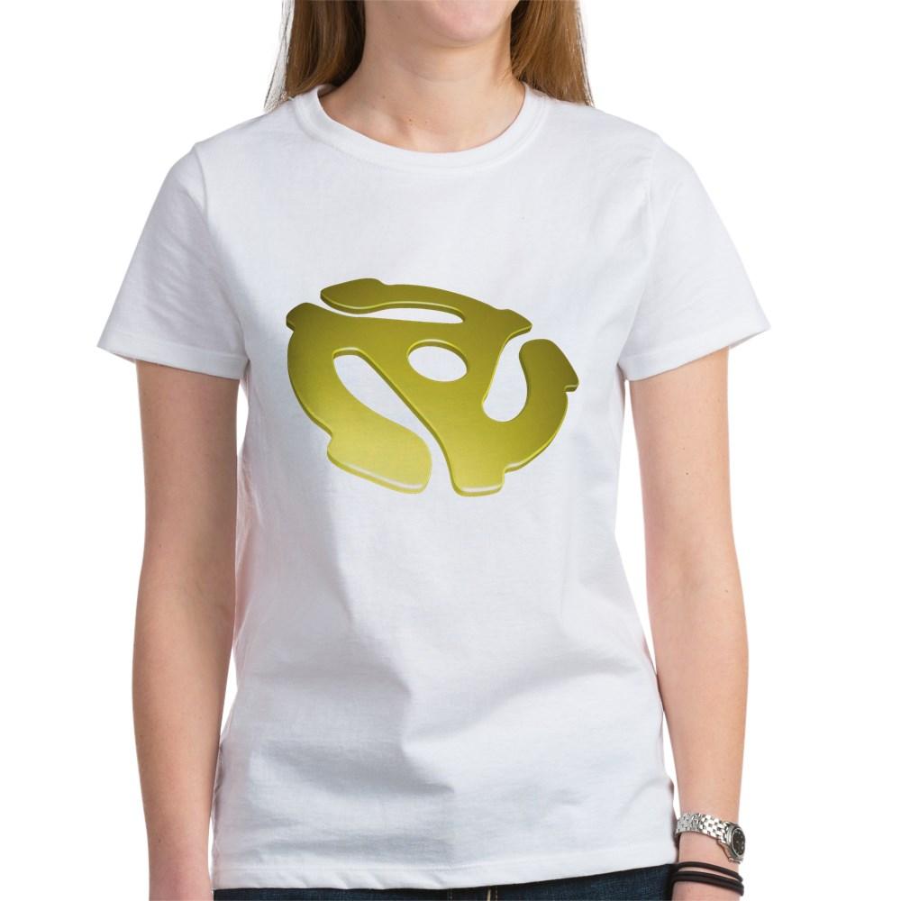 Gold 3D 45 RPM Adapter Women's T-Shirt