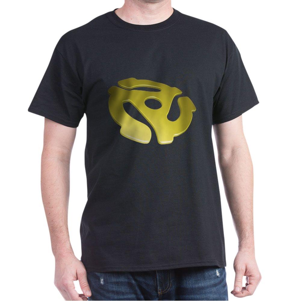 Gold 3D 45 RPM Adapter Dark T-Shirt