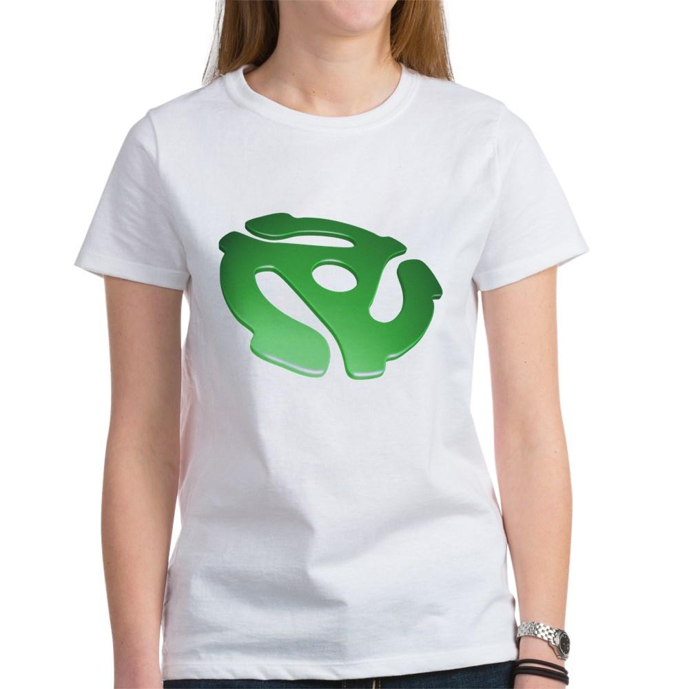 Green 3D 45 RPM Adapter Women's T-Shirt