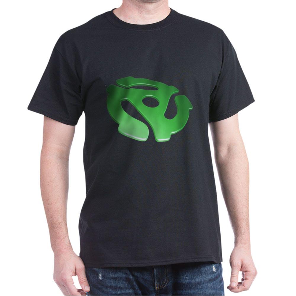 Green 3D 45 RPM Adapter Dark T-Shirt