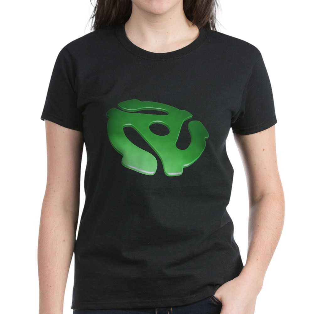 Green 3D 45 RPM Adapter Women's Dark T-Shirt