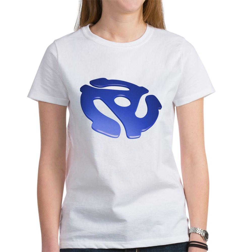 Blue 3D 45 RPM Adapter Women's T-Shirt