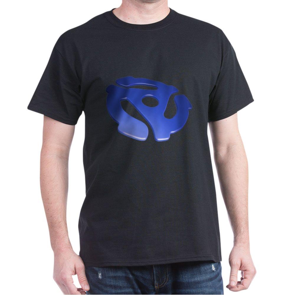Blue 3D 45 RPM Adapter Dark T-Shirt