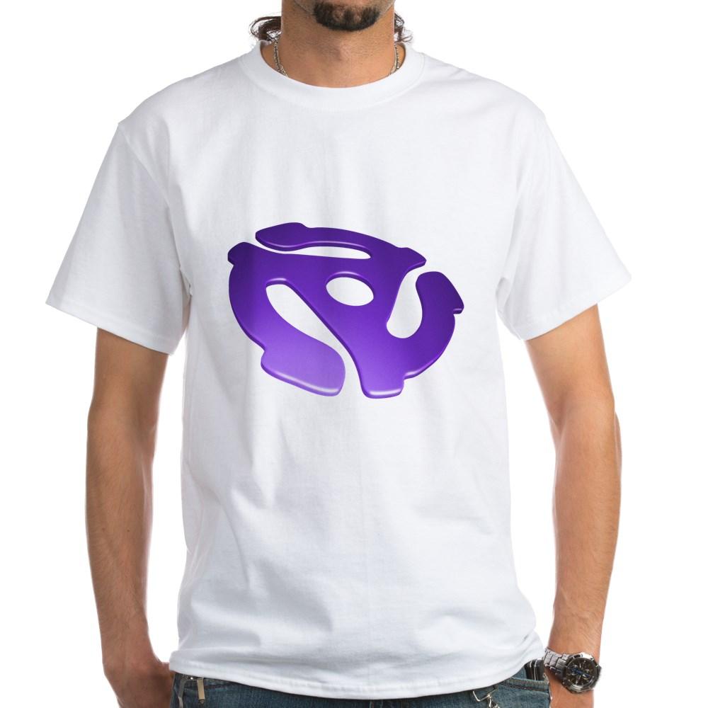 Purple 3D 45 RPM Adapter White T-Shirt