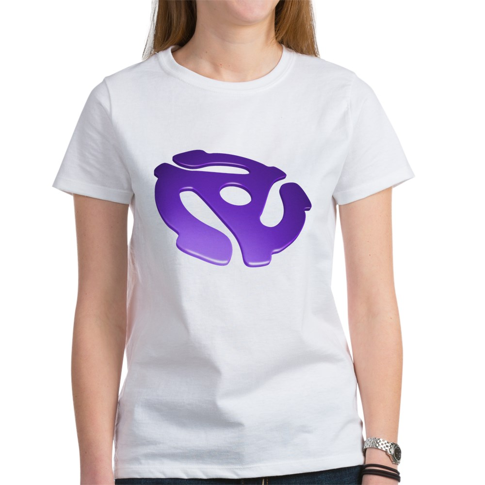 Purple 3D 45 RPM Adapter Women's T-Shirt