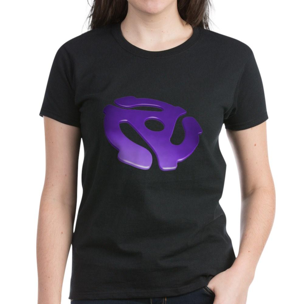 Purple 3D 45 RPM Adapter Women's Dark T-Shirt