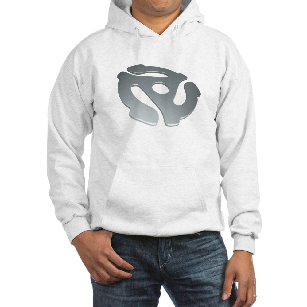 Silver 3D 45 RPM Adapter Hooded Sweatshirt