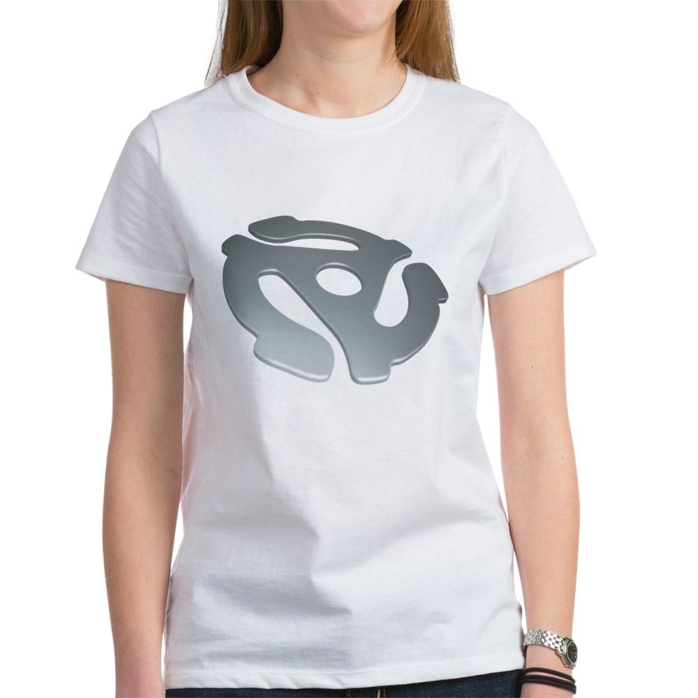 Silver 3D 45 RPM Adapter Women's T-Shirt