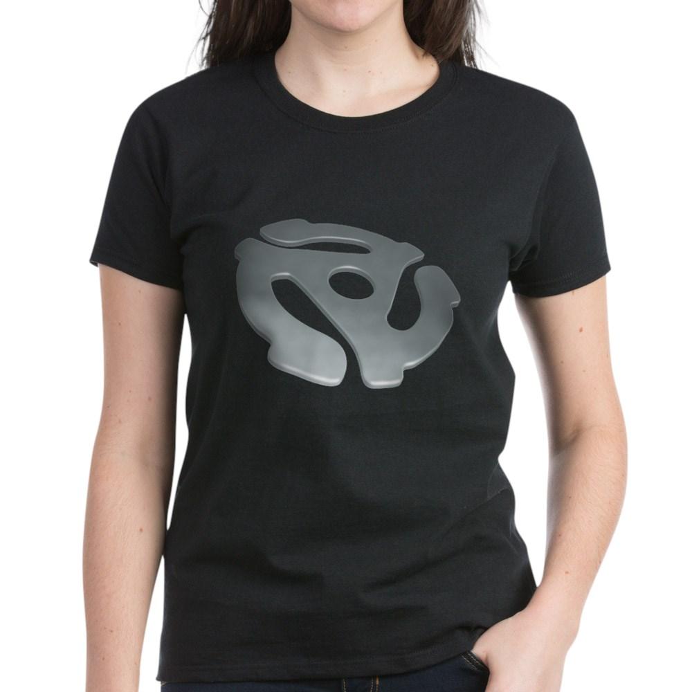 Silver 3D 45 RPM Adapter Women's Dark T-Shirt