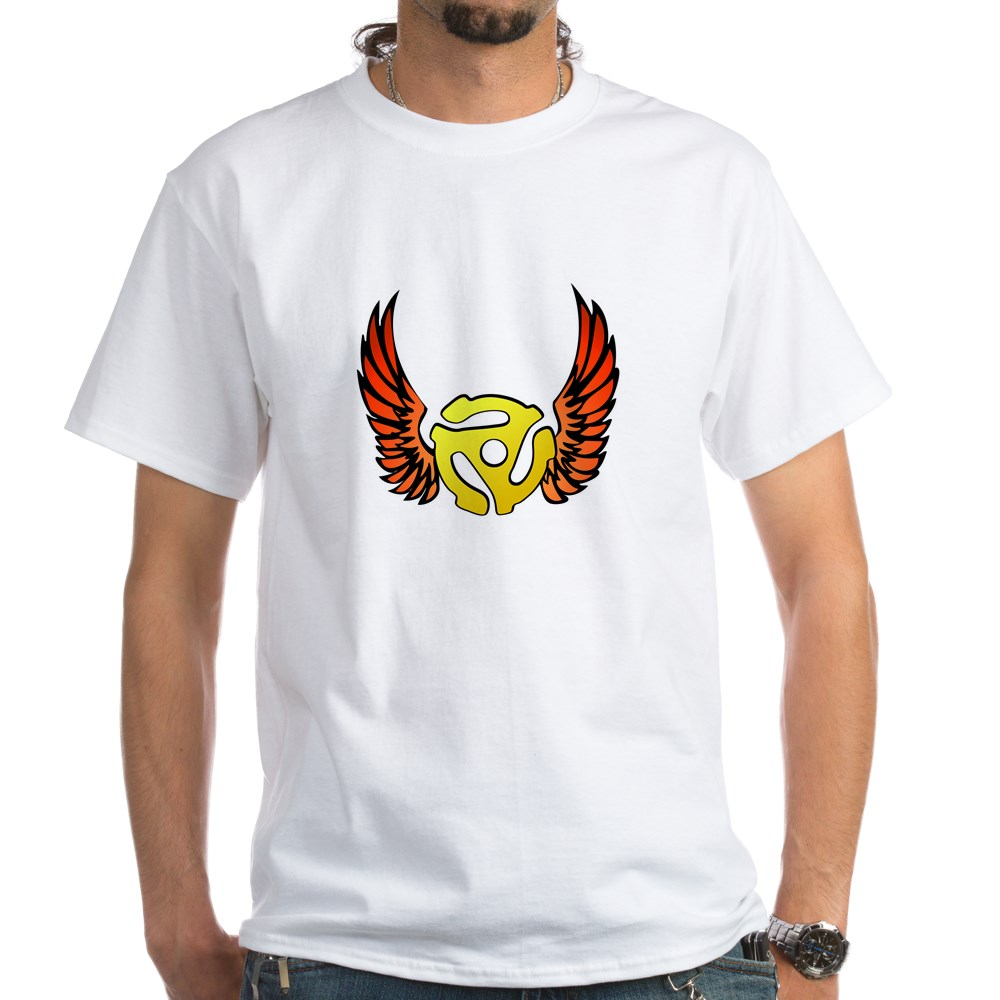 Red Winged 45 RPM Adapter White T-Shirt