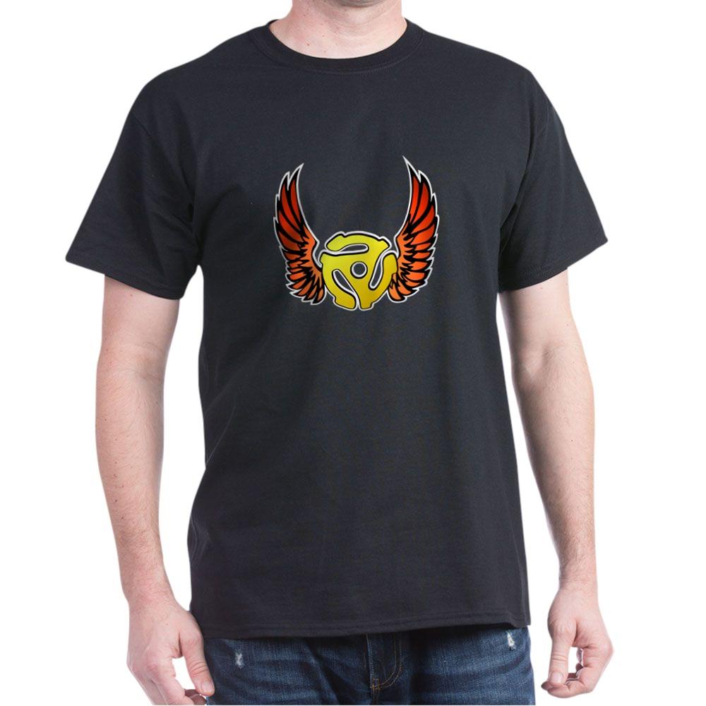 Red Winged 45 RPM Adapter Dark T-Shirt