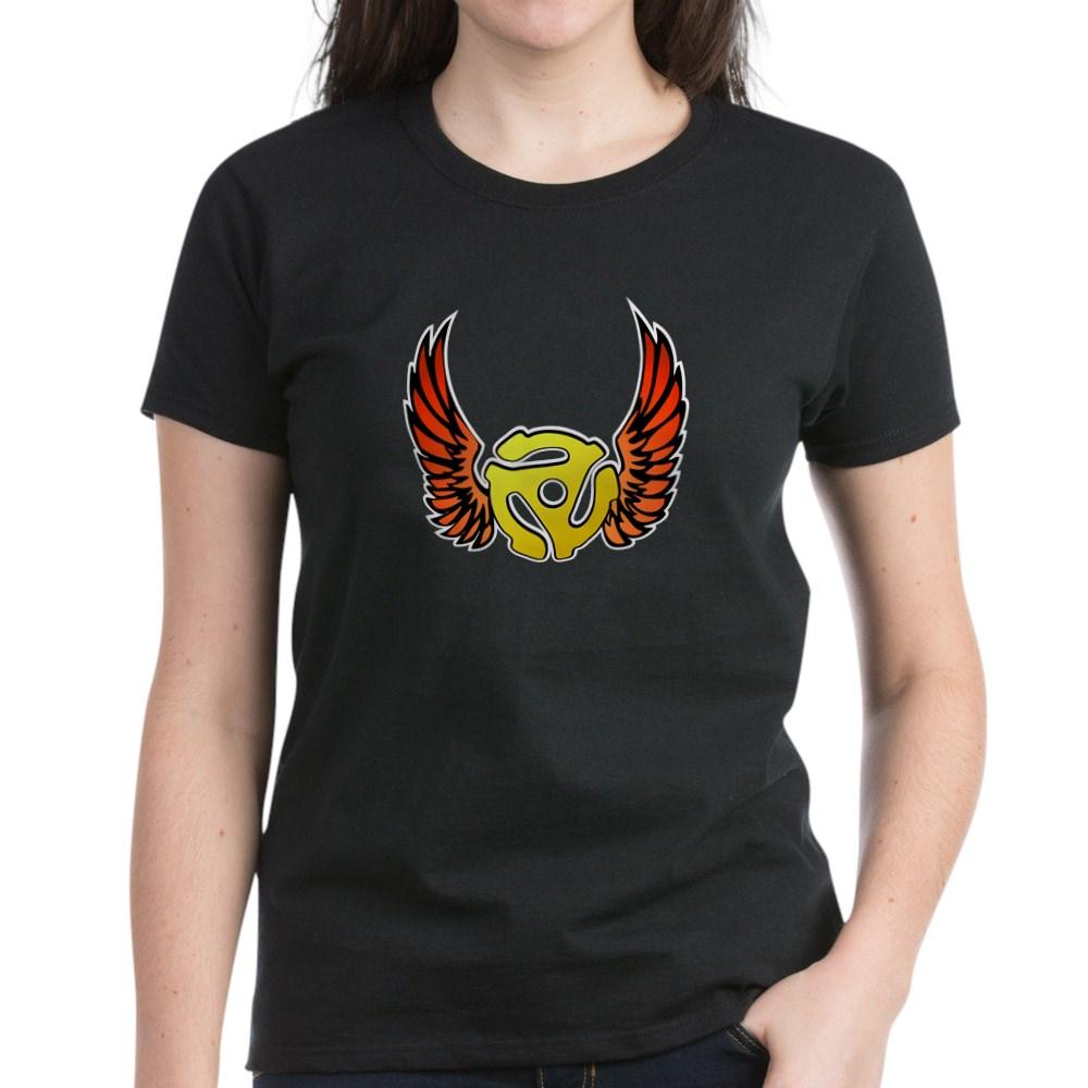 Red Winged 45 RPM Adapter Women's Dark T-Shirt