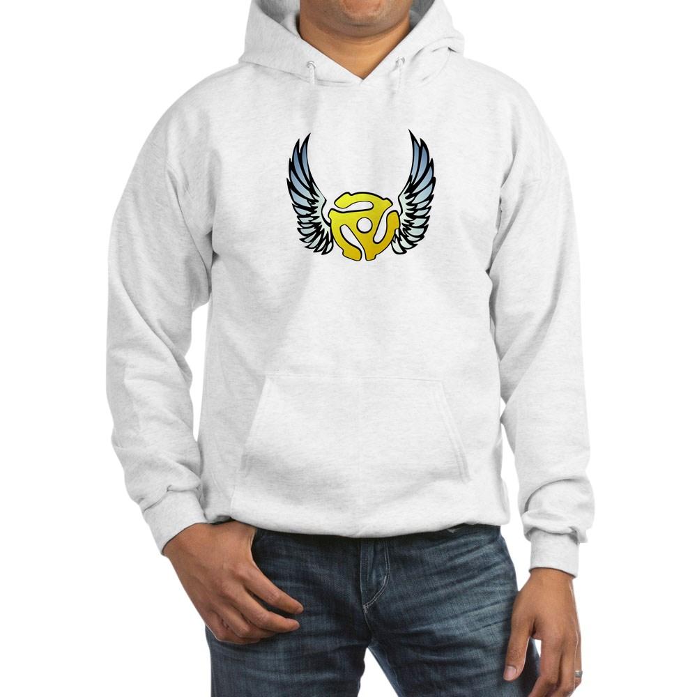 Blue Winged 45 RPM Adapter Hooded Sweatshirt