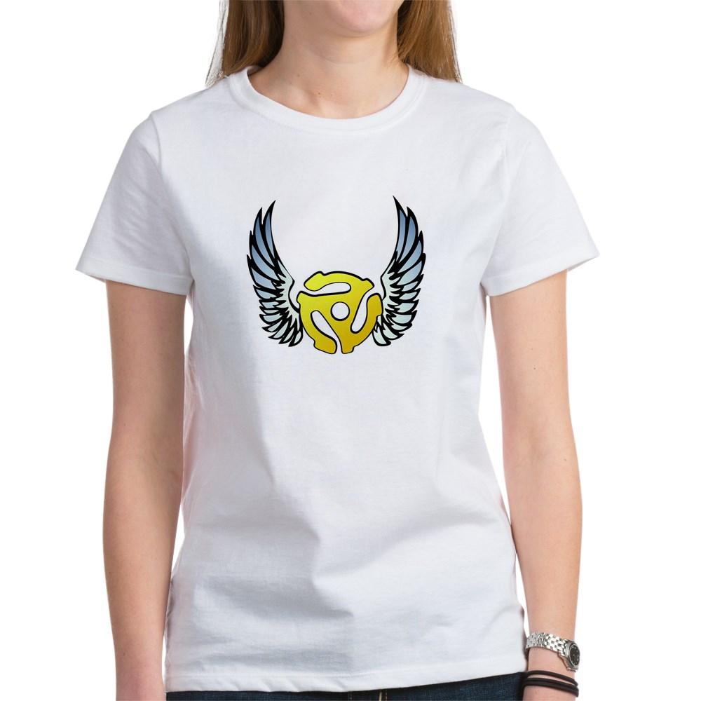 Blue Winged 45 RPM Adapter Women's T-Shirt
