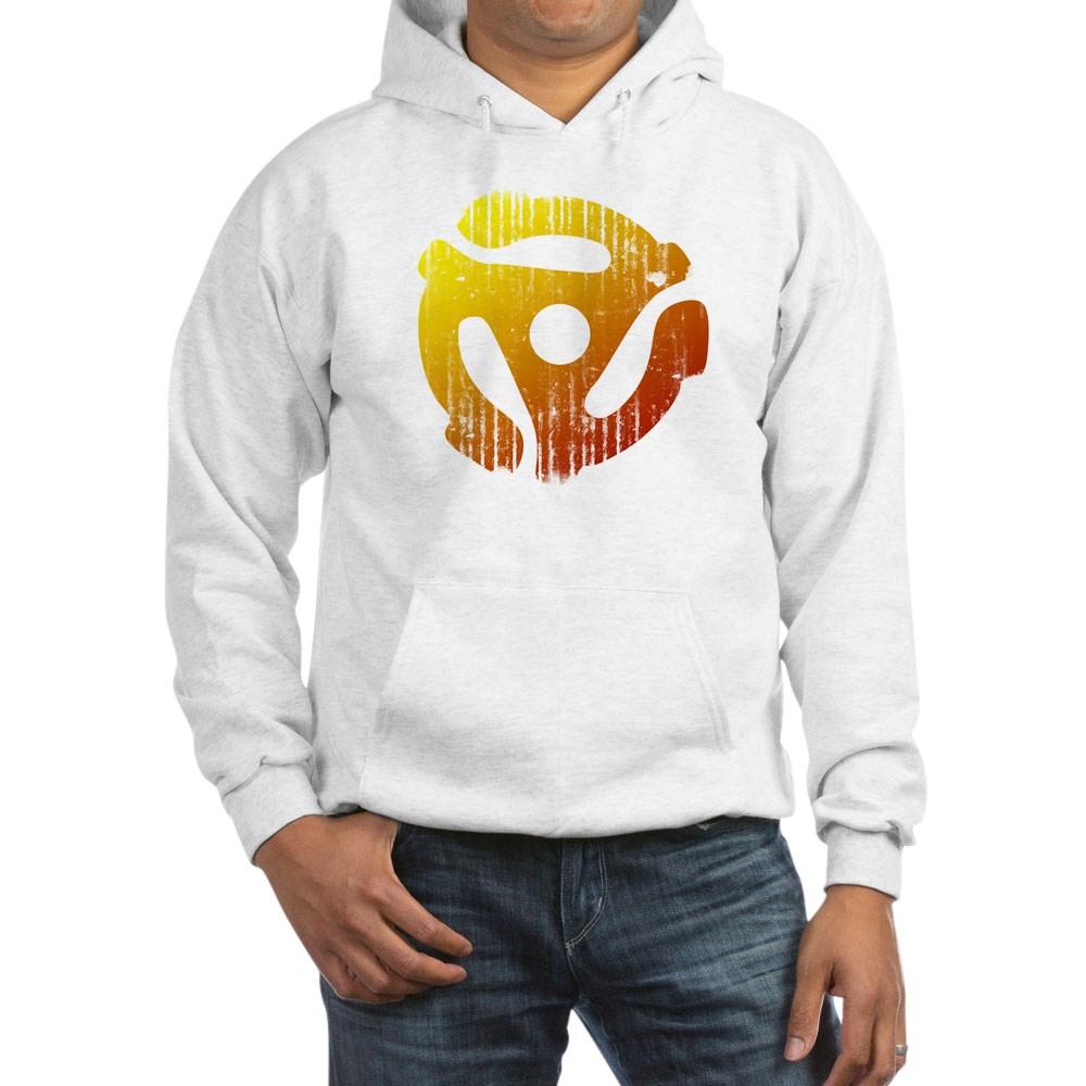 Distressed 45 RPM Adapter Hooded Sweatshirt