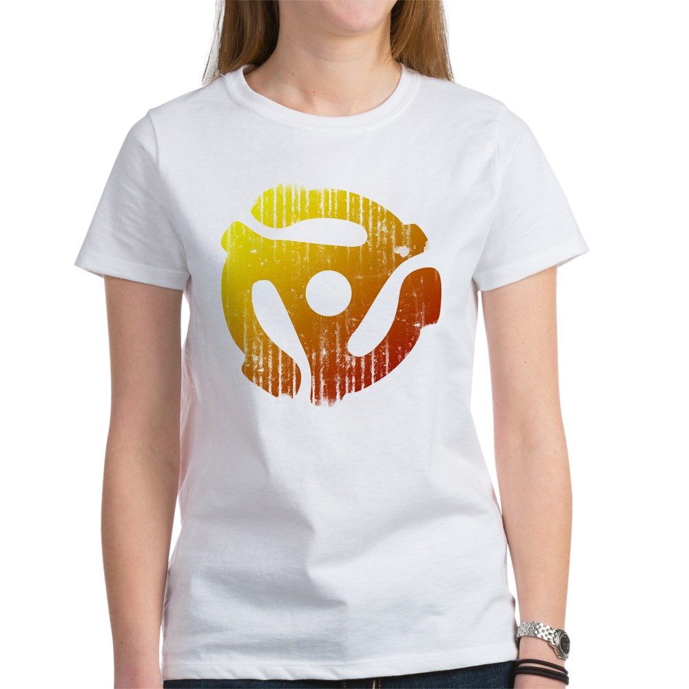 Distressed 45 RPM Adapter Women's T-Shirt