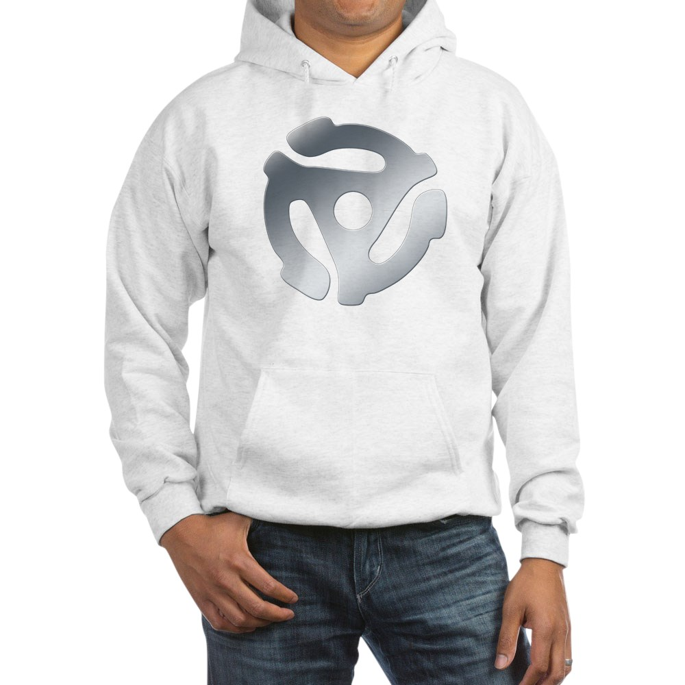 Silver 45 RPM Adapter Hooded Sweatshirt