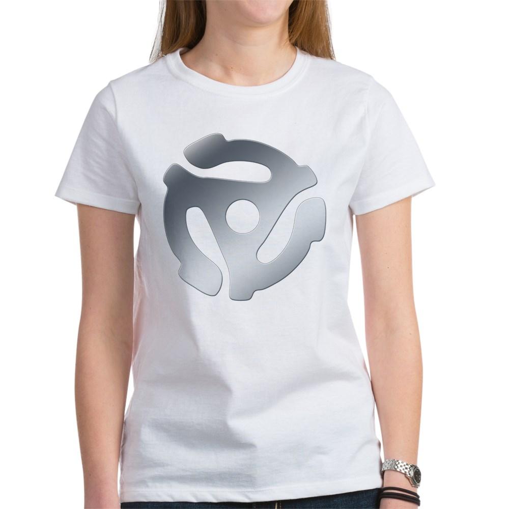 Silver 45 RPM Adapter Women's T-Shirt