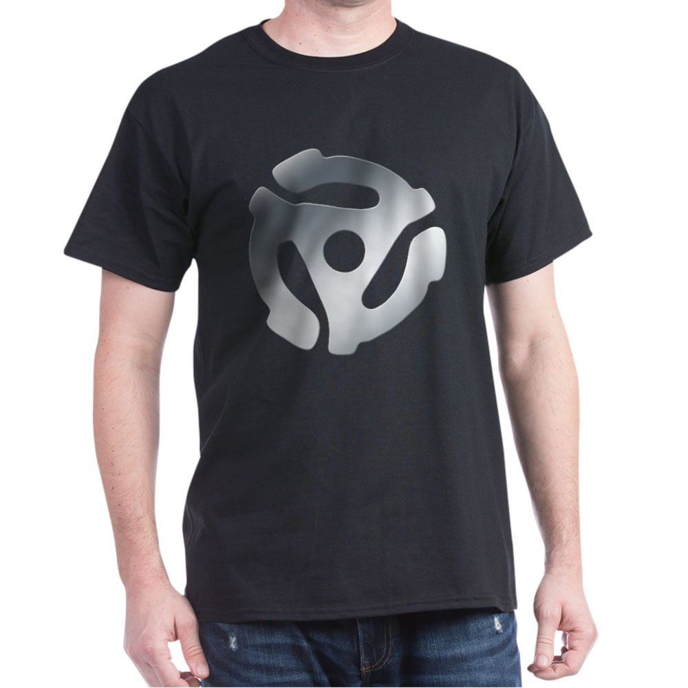 Silver 45 RPM Adapter Dark T-Shirt